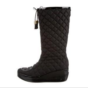 Tory Burch Gigi 2 Platform Wedge Winter Rain Boots